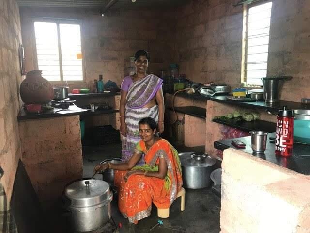Ashram kitchen staff