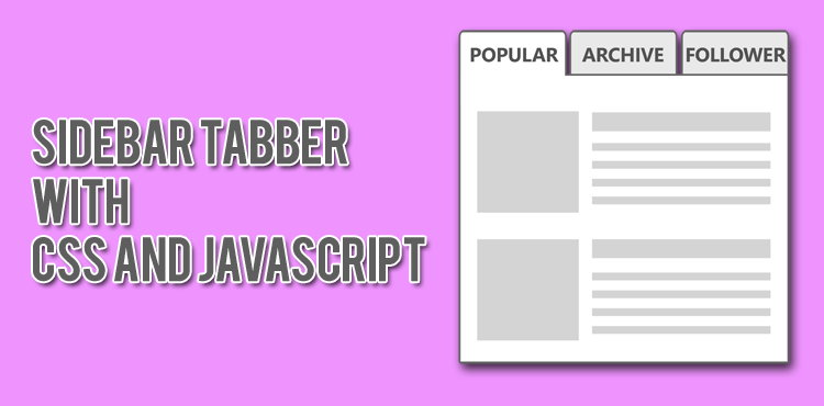 Tabber Sidebar With CSS And Javascript