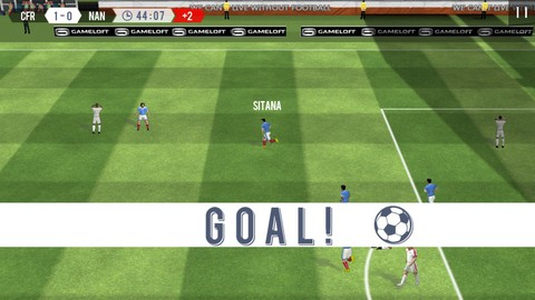 Tampilan Game Real Football 2018 Android
