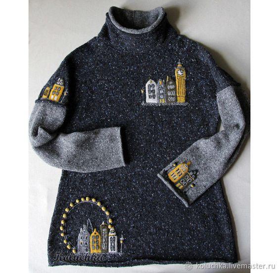 swetry zdobione aplikacjami
