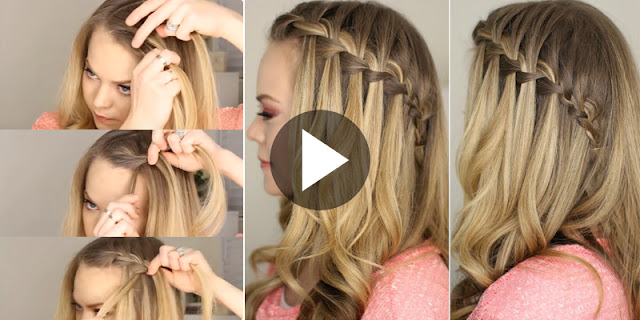 How To Do A Waterfall Braid Hairstyle, See Tutoral