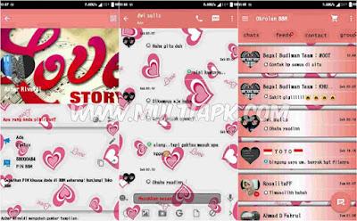 BBM Mod Love Story Material Design v2.9.0.51 Apk