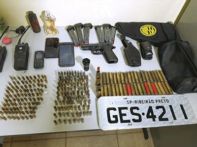 Membros de quadrilha são presos em Cajobi com grande quantidade de munições