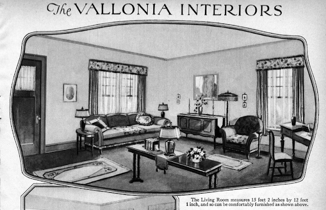 Sears Vallonia living room in 1929 catalog