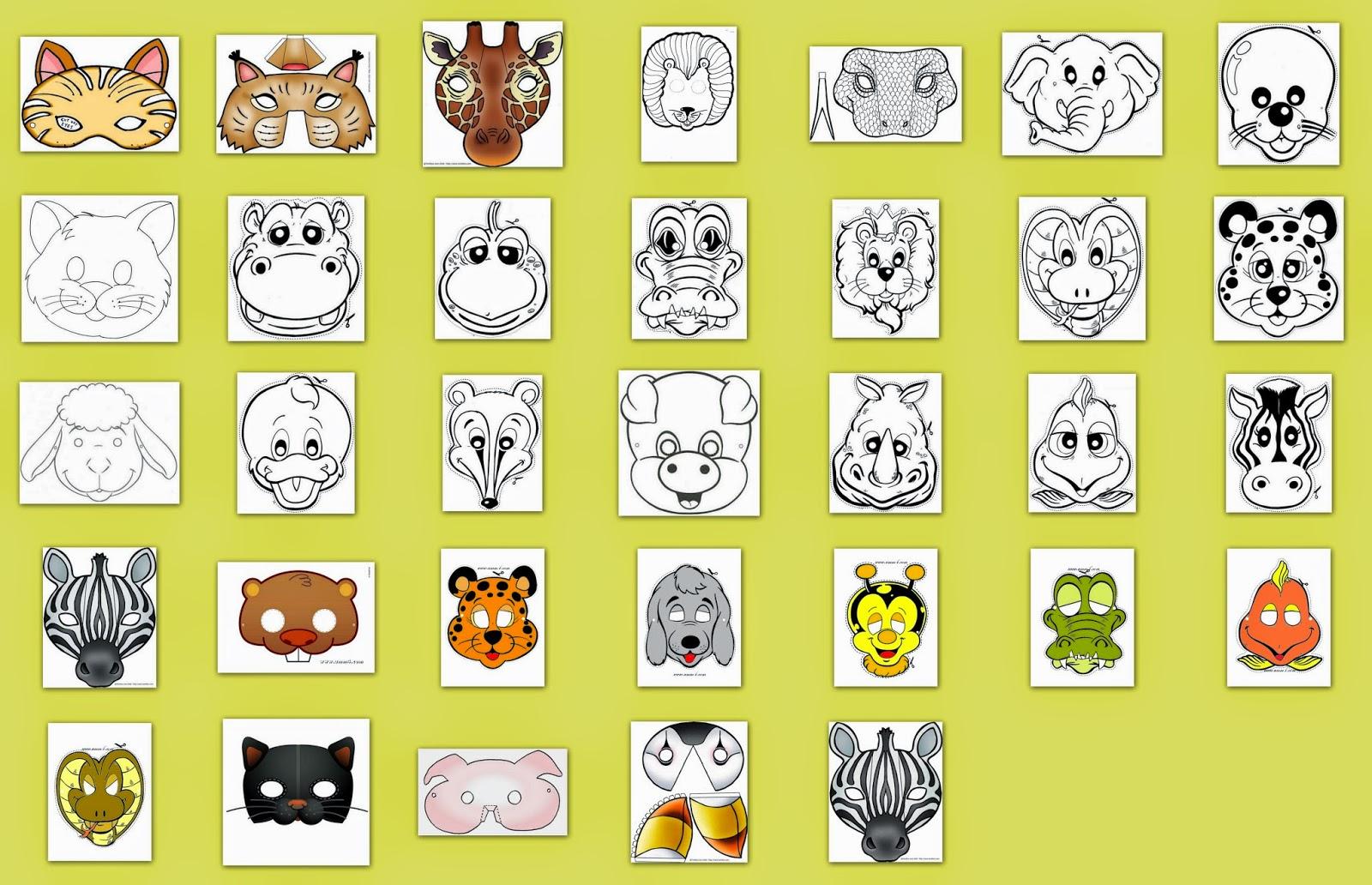 Máscaras de Animales para Imprimir Gratis.   Ideas y material gratis ...