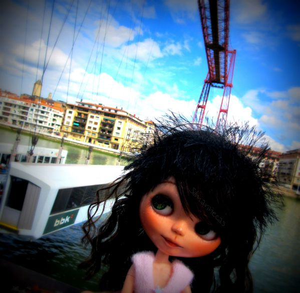 Caty y el Puente Colgante Vizcaya - Portugalete