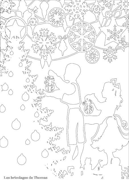 Cadre de Noël en Kirigami