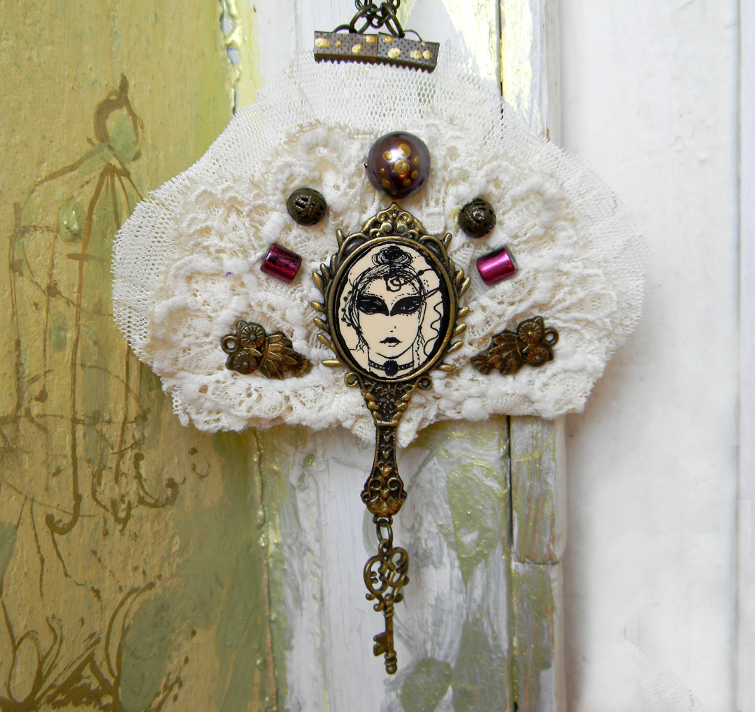 """Carnevale"" Statement Necklace Venice Mask Inpired"