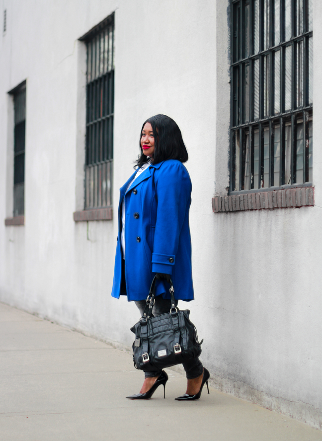 Plus Size Blue Coat