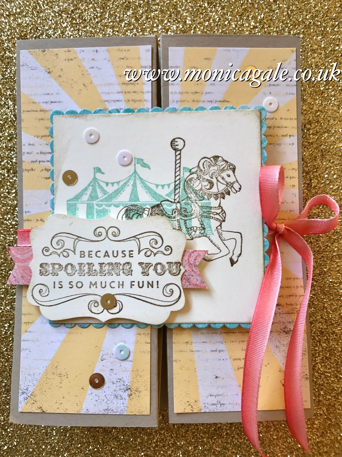 Monica Gale Top STAMPIN UP UK Demonstrator Carousel Birthday
