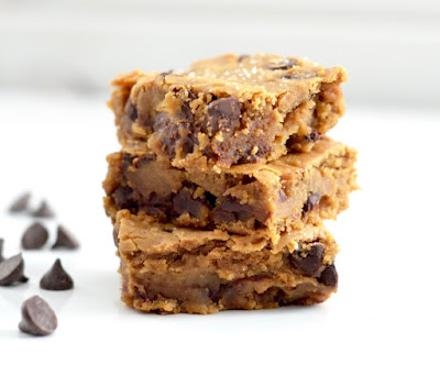 healthy peanut butter blondie recipe