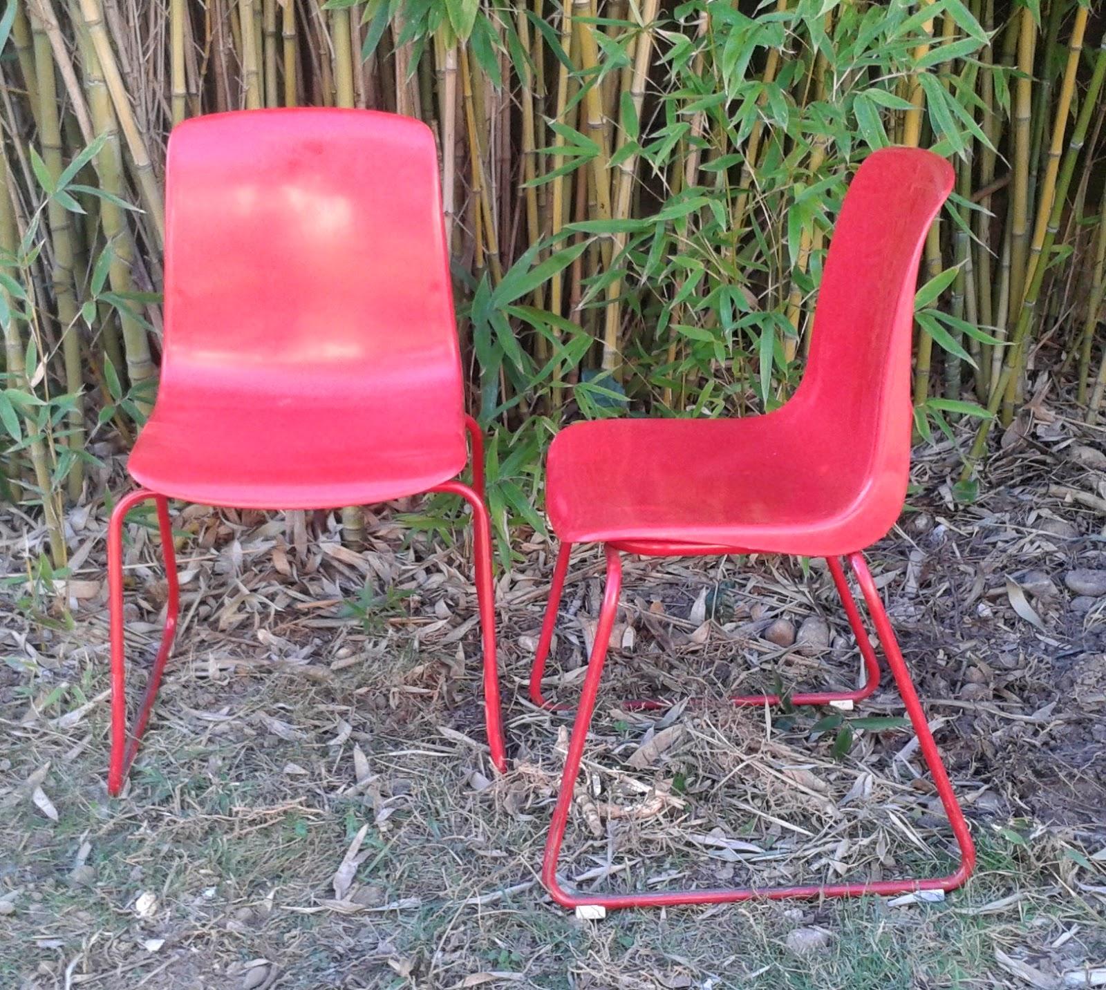 les enfants de la brocante chaise vintage grosfillex rouge n 6001