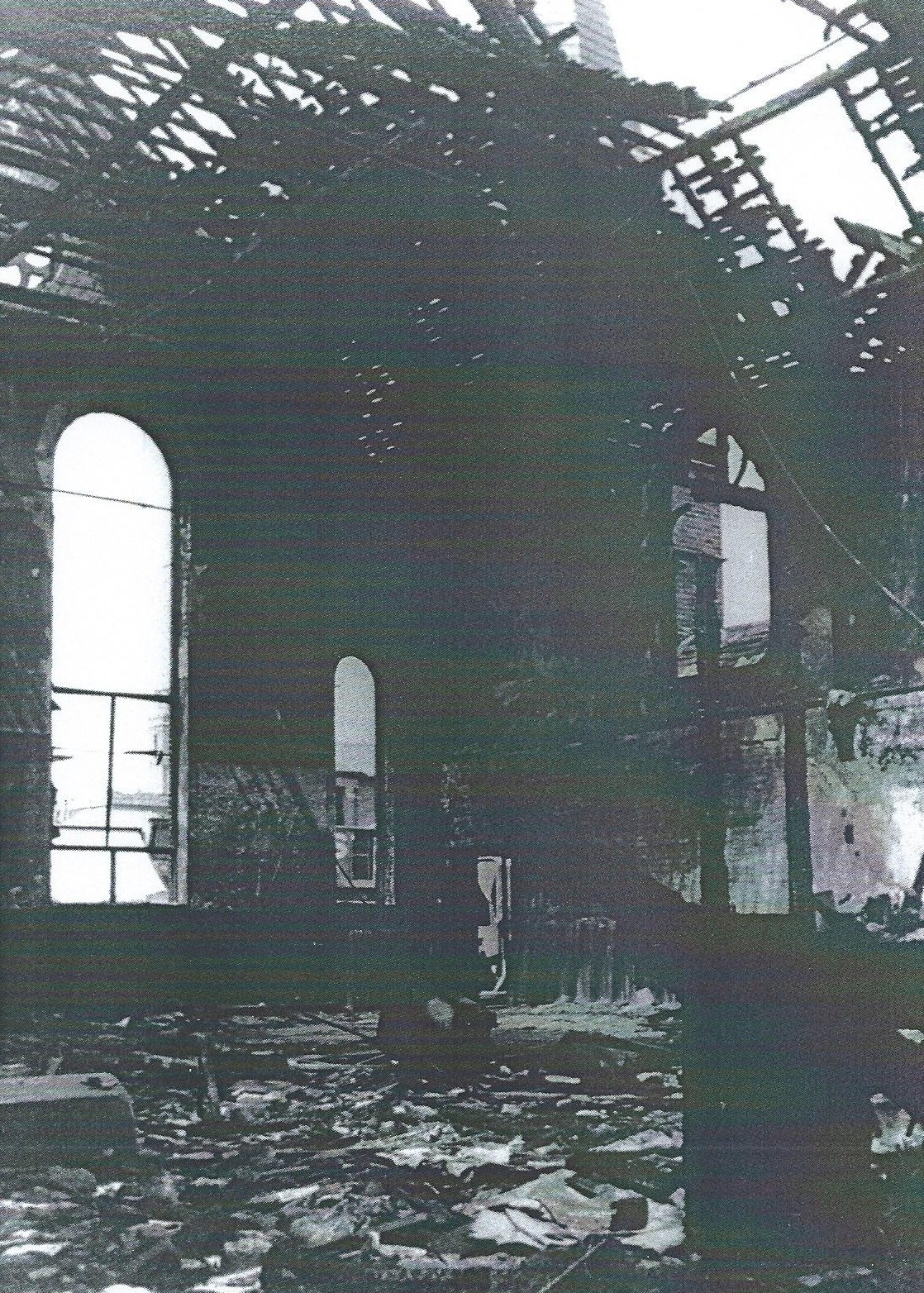 huge selection of 0207c 1fd6f The bombed interior of one of Forest Gates then most recognizable  landmarks, the former Methodist church building on. Woodgrange Road.