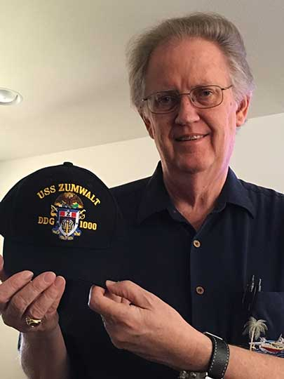 Resident Astronomer displays bling from USS Zumwalt tour