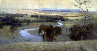 Still Glides The Stream And Shall Forever Glide - Arthur Streeton painting