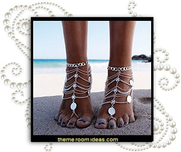 toe nails fancy feet decals - nail art designs - decorate your toes - toenail designs - toenail decorations - fake nails for your toes - Foot Jewelry - Barefoot Sandals - ankle decorations - feet bling - feet jewelry for the beach - Rhinestone Toe Ring  - Beach Wedding Jewelry Anklet