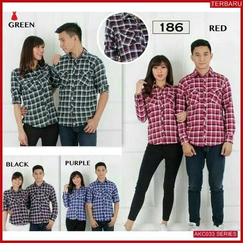 AKC033K64 Kemeja Couple Flanel Anak 033K64 Kemeja Baju BMGShop