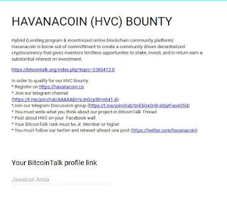 Dapatkan 10 Havanacoin (HVC) Untuk 2000 Orang Pertama