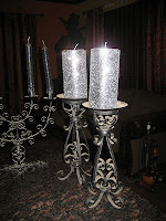 Glittered Candles