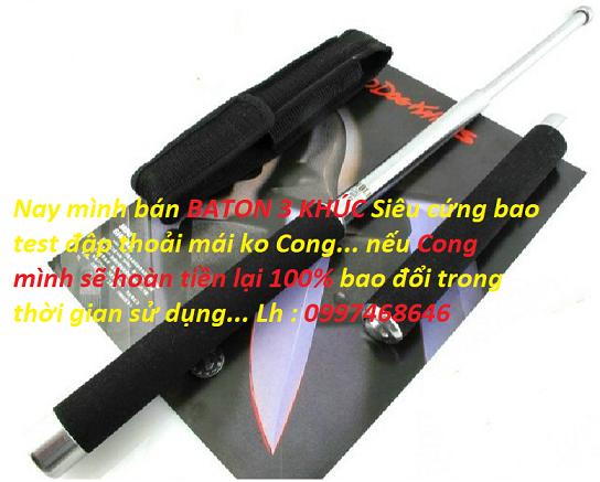 Baton 3 khúc, Baton 3 track, gậy thép 3 khúc, gậy dũ 3 khúc siêu cứng..399k