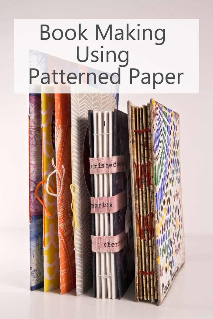 Book Making Using Patterned Paper by Kim Dellow