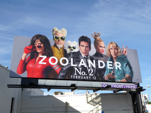 Zoolander 2 special extension movie billboard
