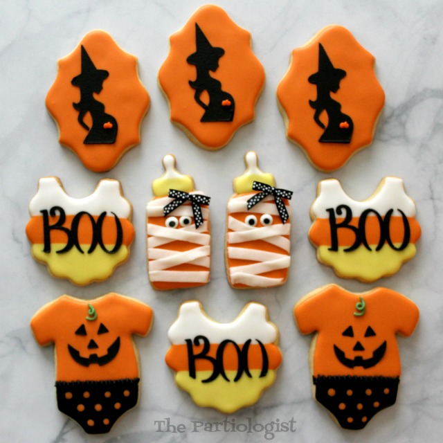 Halloween Themed Baby Shower Cookies.The Partiologist Halloween Cookies More