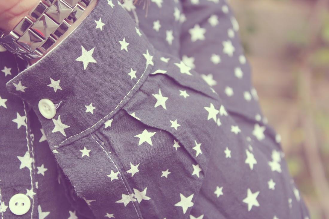 Camisa handmade estampado de estrellas