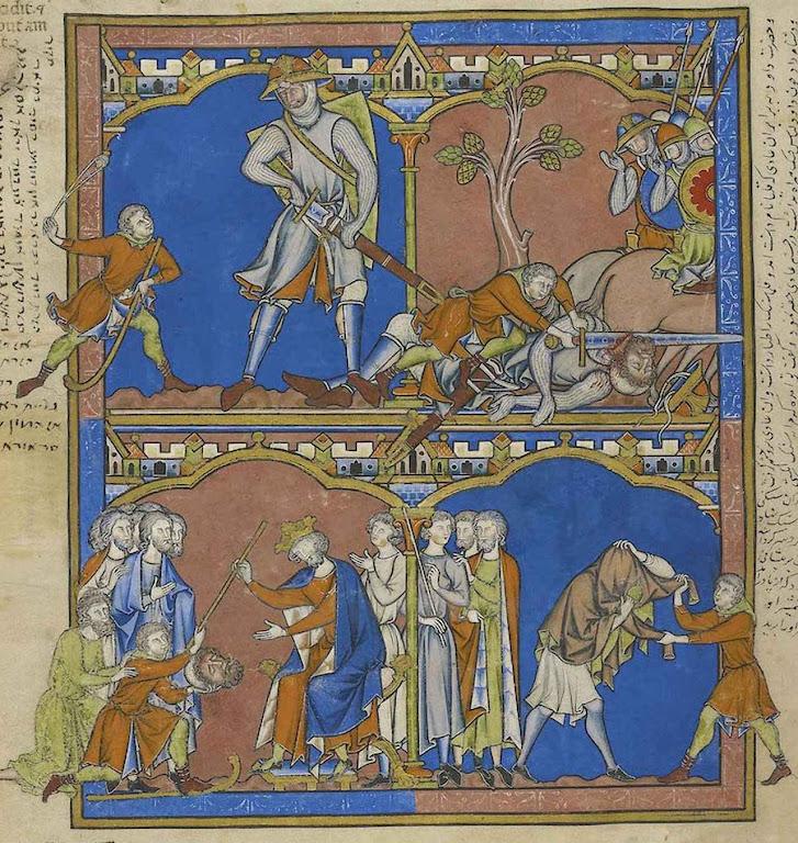 A luta de Davi e Golias, Bíblia dos Cruzados.