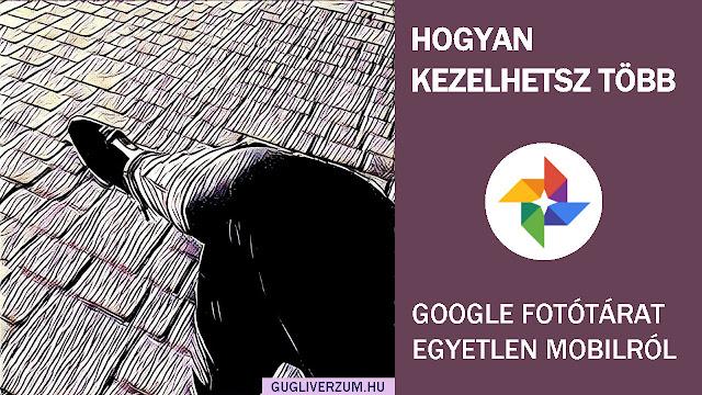 Több Google Fotók fiók kezelése egy mobiltelefonról