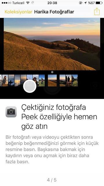 iPhone 7 Peek özelliğini kullanmak