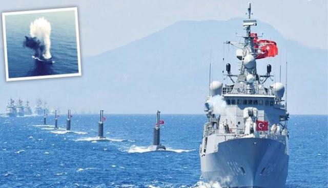 Πρόβα ναυμαχίας στο Αιγαίο
