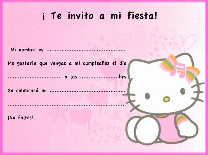 Tarjetas De Invitación De Hello Kitty Para Editar Imagui