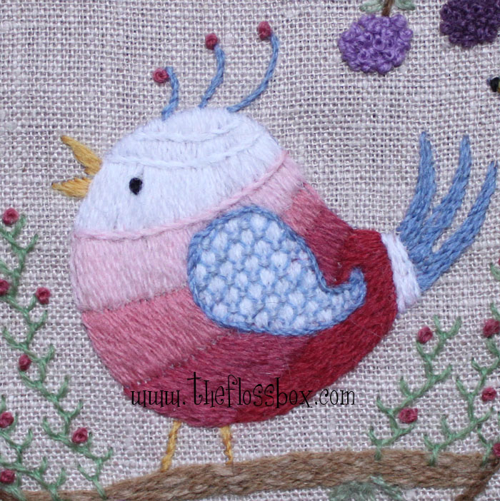 The Floss Box Let Your Heart Sing Crewel Embroidery