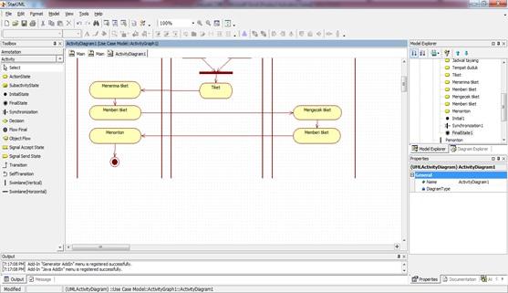 StarUML : Belajar Menggunakan Diagram Activity - TaucOS