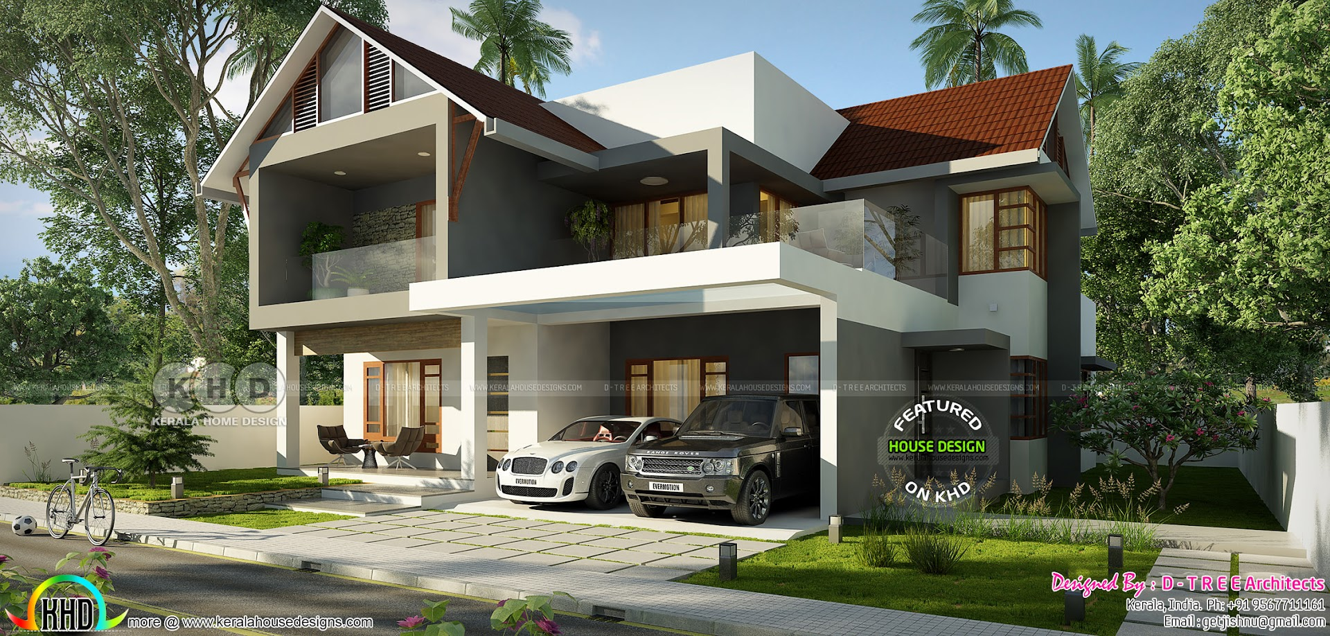 Traditional House With Modern Elements Kerala Home Design Bloglovin
