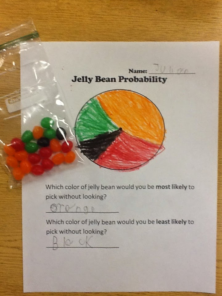 Mrs T S First Grade Class Jelly Bean Probability