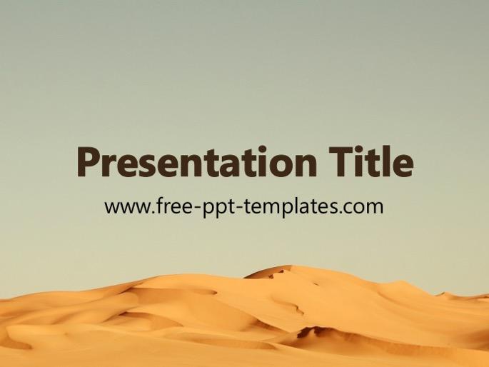 Arid powerpoint template.