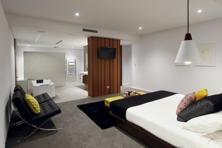 Bedroom in Contemporary style One27 Grovedale home by Mick Rule