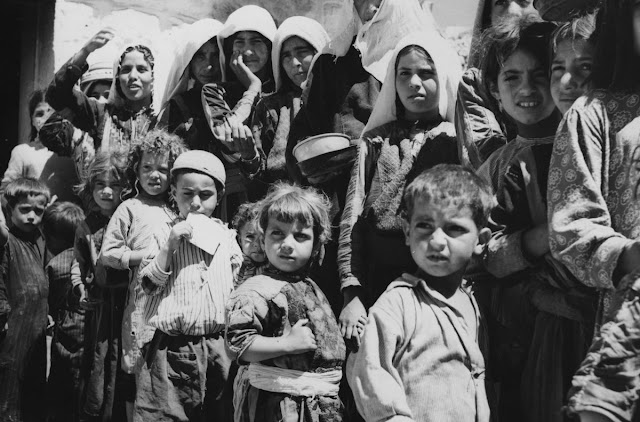 Palestinian refugees in 1955