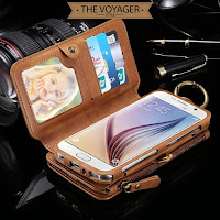dompet clutch casing hp kulit asli iPhone 6 7 Plus leather case wallet unik premium