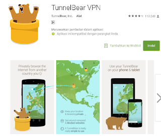 TunnelBear VPN Di Android