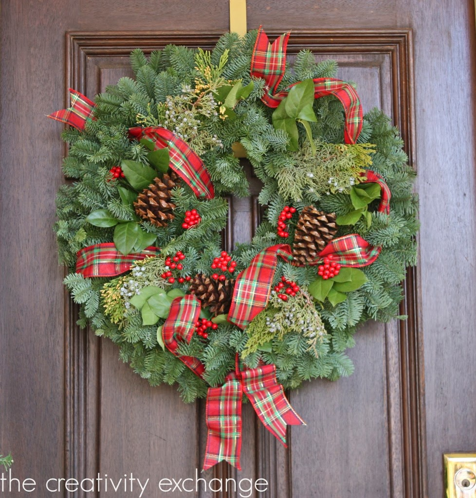 Garland For Front Door: Continuing On The Christmas Tour Of Homes