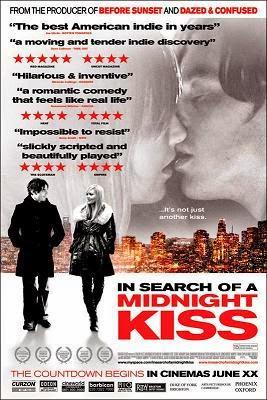 portada de la película romántica Buscando un beso a medianoche