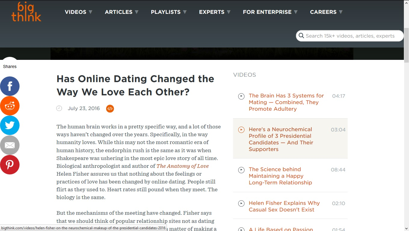 Careers in online dating