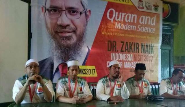 Kuliah Umum Zakir Naik di Makassar Di Hadiri 200 Non Muslim