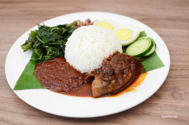 Nasi Lemak Sambal Sotong  - RM14.90