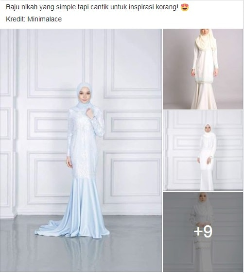 13 Contoh Design Baju Nikah Simple Tapi Cantik! ~ Wordless Wednesday