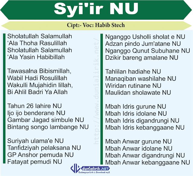 Download Lagu Deen Assalam: Lirik Lagu Syiiran NU (Ijo Ijo Benderane NU) Oleh Habib