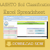 Download AASHTO Soil Classification Excel Spread Sheet [XLSX]